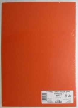 Výkresy farebné A3, 225g/50ks, oranžové