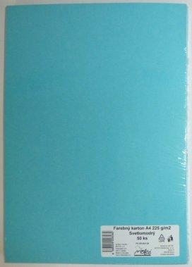 Výkresy farebné A4, 225g/50ks, svetlomodré