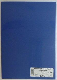 Výkresy farebné A4, 225g/50ks, tmavomodré