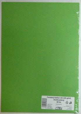 Výkresy farebné A4, 225g/50ks, svetlozelené
