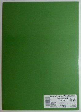 Výkresy farebné A4, 225g/50ks, tmavozelené