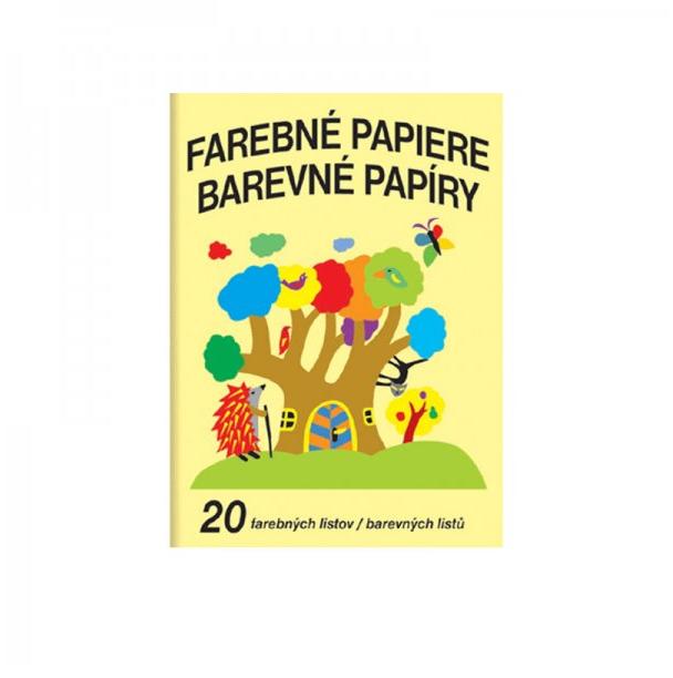 Papier farebný skicár A4/20ks 130g, farebný mix